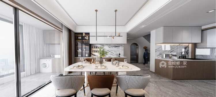 145平金茂府现代风格-现代大宅 一见倾心-餐厅效果图及设计说明