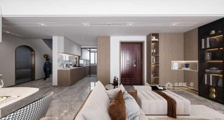 145平金茂府现代风格-现代大宅 一见倾心-客厅效果图及设计说明