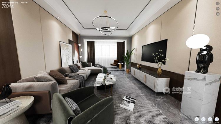 119平利兹堡现代风格-客厅效果图及设计说明
