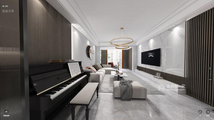 123平瑞日嘉园现代风格-客厅效果图及设计说明