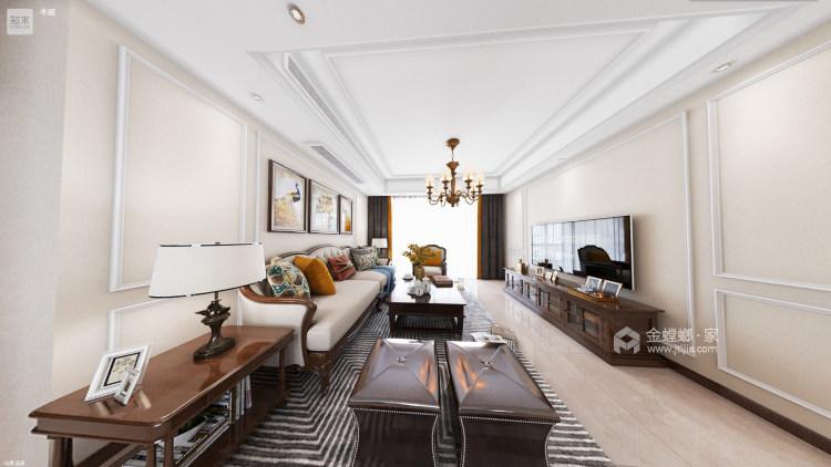 139平澜湾国际简欧风格-明亮舒适之家-客厅效果图及设计说明
