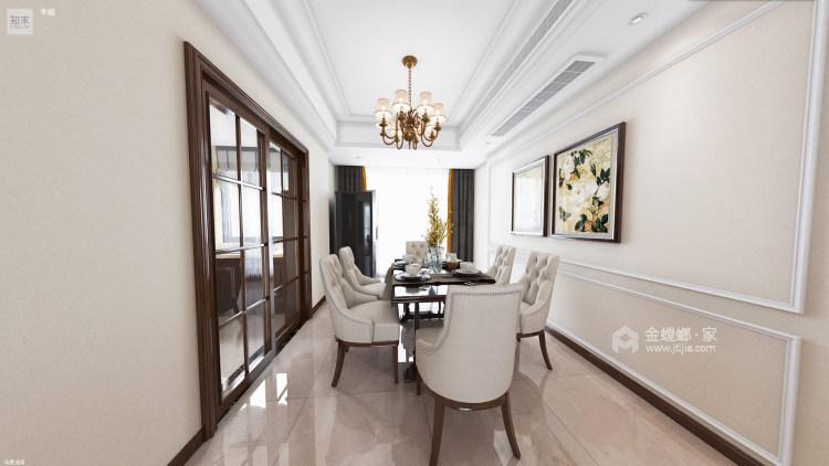 139平澜湾国际简欧风格-明亮舒适之家-餐厅效果图及设计说明