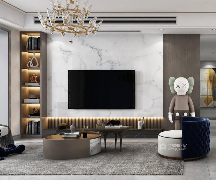 130平抚州中心现代风格-客厅效果图及设计说明