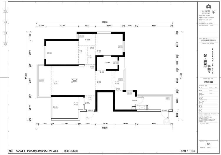 119平利兹堡现代风格-业主需求&原始结构图