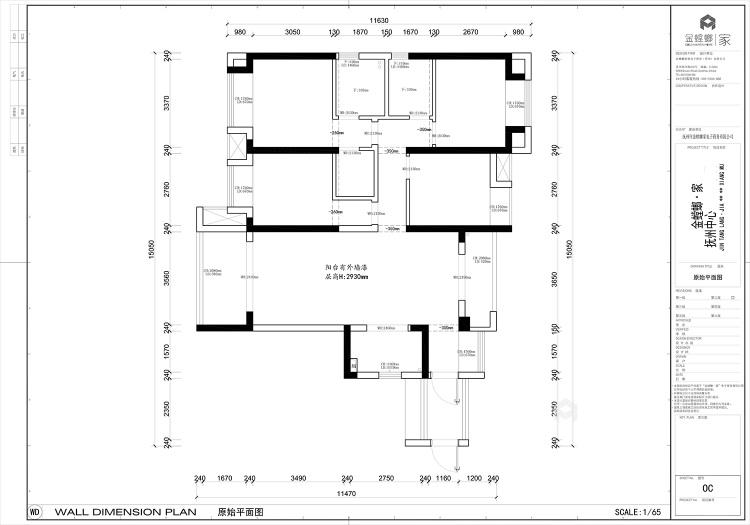 130平抚州中心现代风格-业主需求&原始结构图