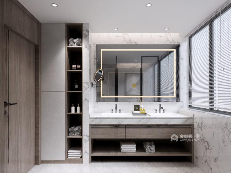 180平景瑞御江山现代风格-精致的现代居住空间-卫生间