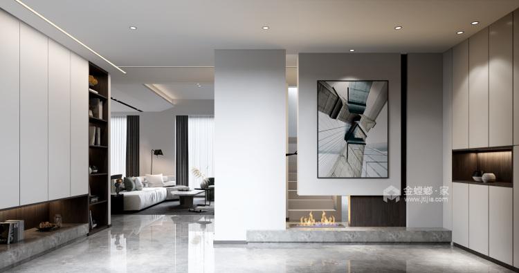 360平自建房现代风格-追光者-格调极简,品质生活-玄关