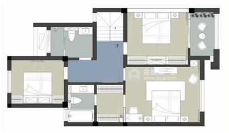 220平招商学府新中式风格-新中式品质-平面设计图及设计说明
