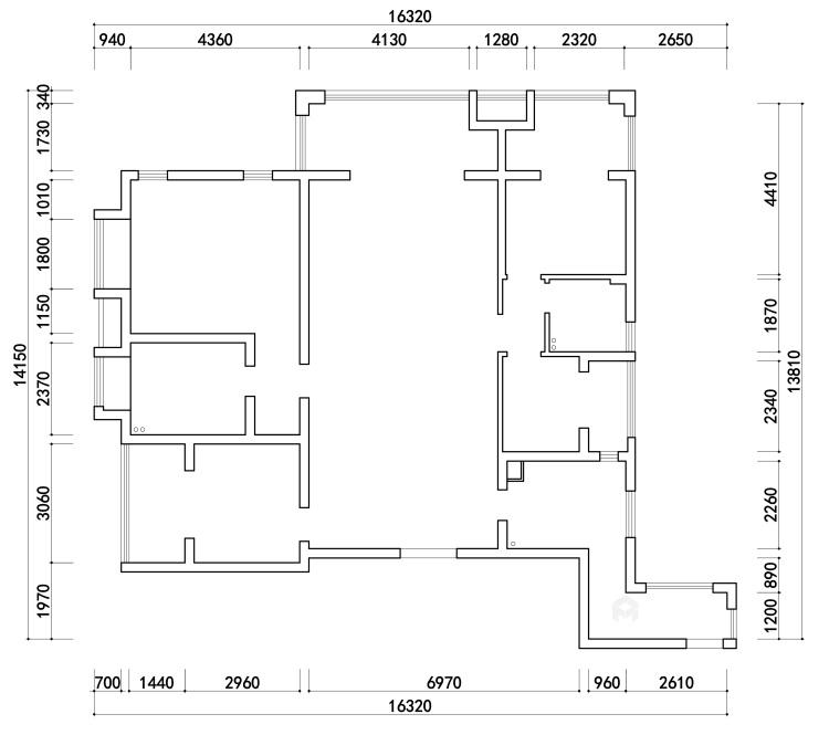 """166平石湖湾现代风格-灰调奢华-灰色系的""""低调奢华,有内涵""""-业主需求&原始结构图"""