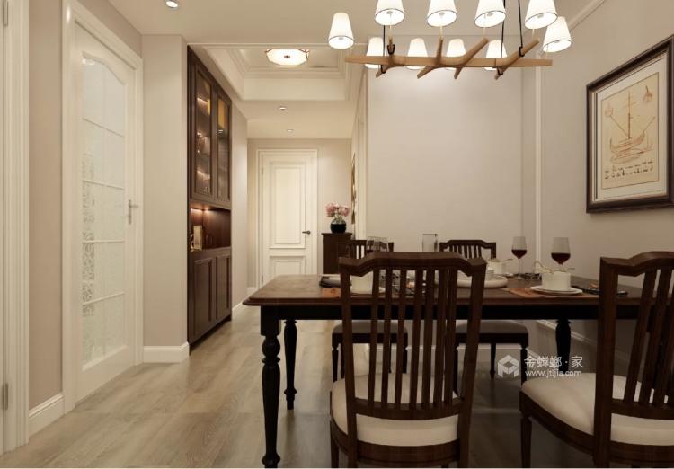 220平招商学府新中式风格-新中式品质-餐厅效果图及设计说明