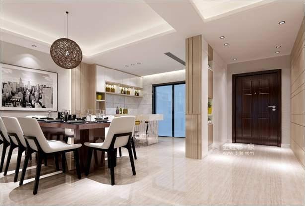 160平现代园墅现代风格-高颜值 高品质-餐厅效果图及设计说明