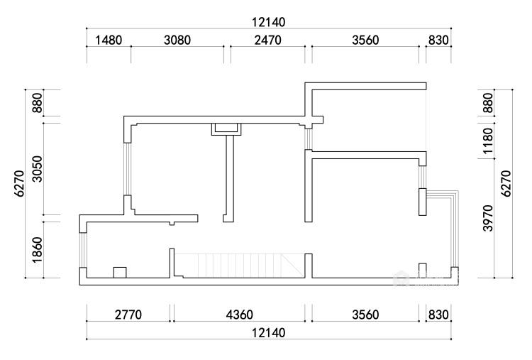 180平景瑞御江山现代风格-精致的现代居住空间-业主需求&原始结构图