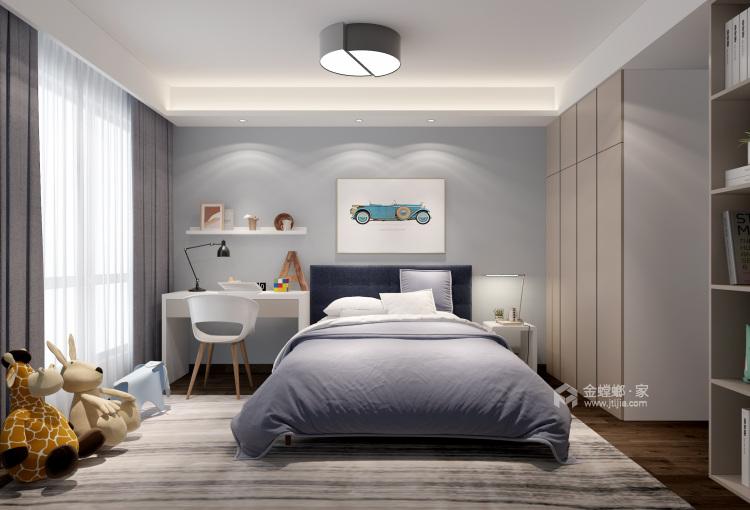 """166平石湖湾现代风格-灰调奢华-灰色系的""""低调奢华,有内涵""""-儿童房"""