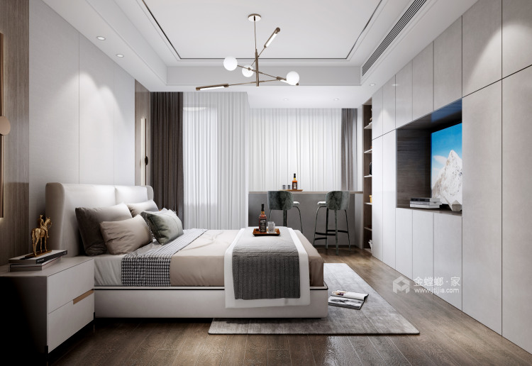180平景瑞御江山现代风格-精致的现代居住空间-卧室