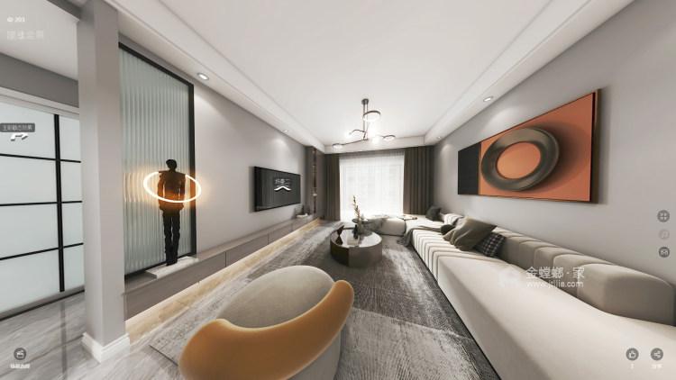 107平硕丰世界城现代风格-客厅效果图及设计说明