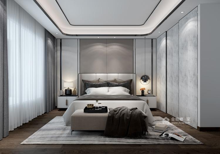 """166平石湖湾现代风格-灰调奢华-灰色系的""""低调奢华,有内涵""""-卧室效果图及设计说明"""