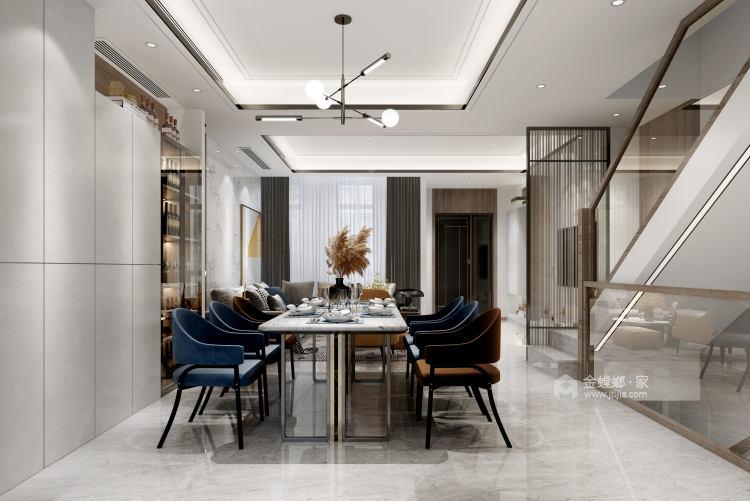180平景瑞御江山现代风格-精致的现代居住空间-餐厅效果图及设计说明
