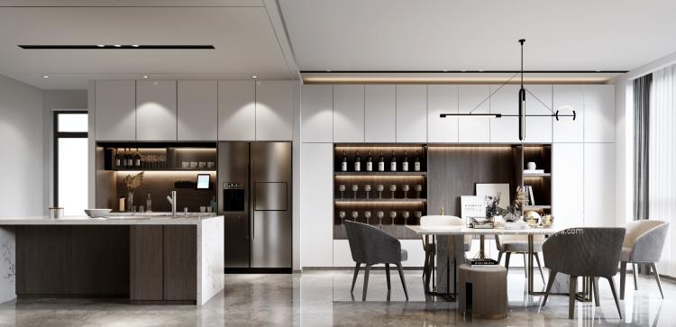 360平自建房现代风格-追光者-格调极简,品质生活-厨房