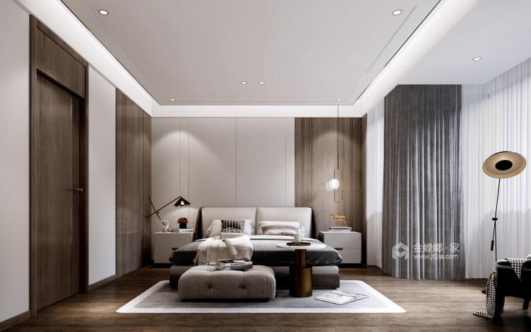 180平景瑞御江山现代风格-精致的现代居住空间-卧室效果图及设计说明