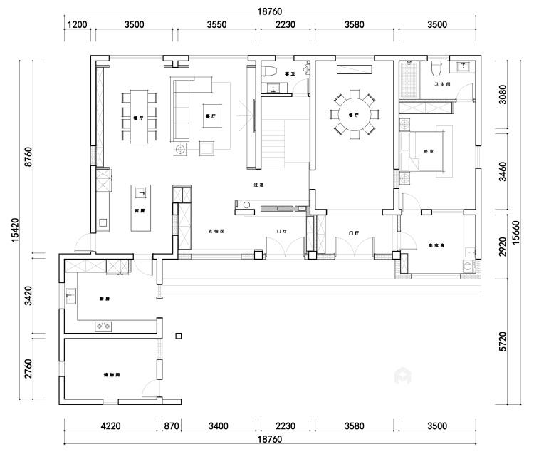 360平自建房现代风格-追光者-格调极简,品质生活-平面设计图及设计说明