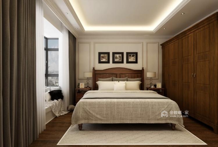 220平招商学府新中式风格-新中式品质-卧室效果图及设计说明