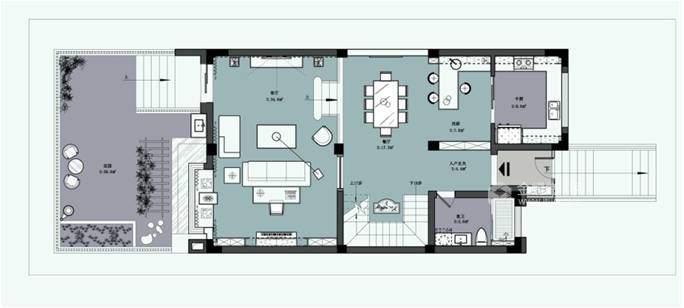 160平现代园墅现代风格-高颜值 高品质-平面设计图及设计说明
