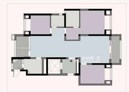 143平龙湖时代天街简欧风格-清新高贵   难以表达的美感-业主需求&原始结构图
