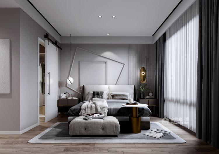 """85平远洋花园现代风格-邂逅时光-85㎡收纳""""巨能装""""-卧室效果图及设计说明"""