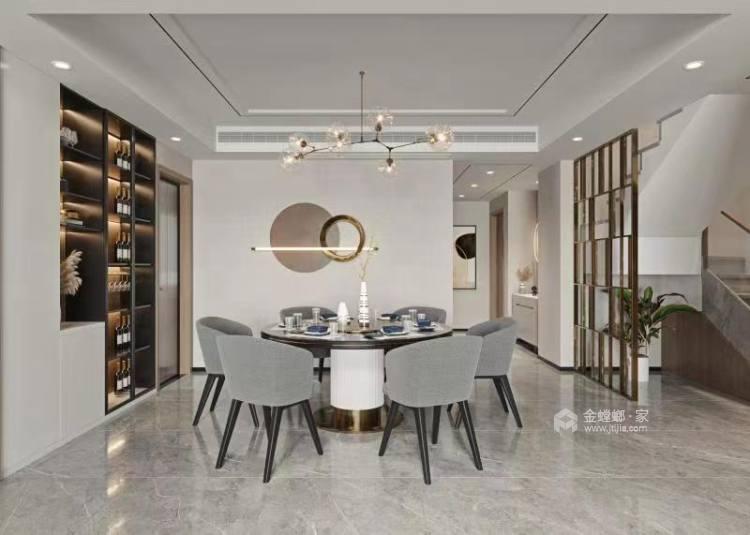 260平金鹰花园现代风格-餐厅效果图及设计说明