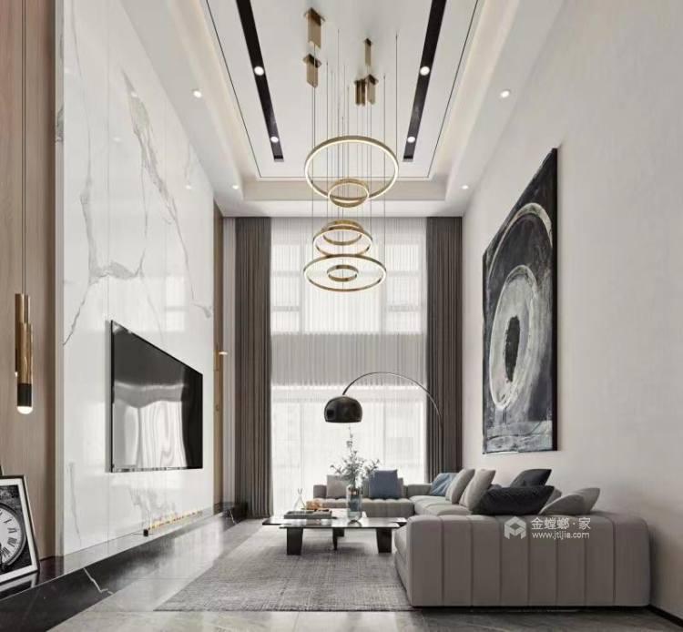 260平金鹰花园现代风格-客厅效果图及设计说明
