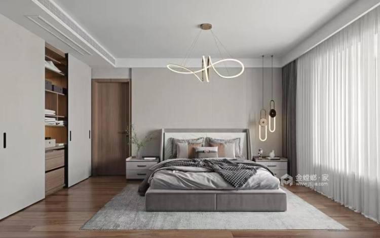 260平金鹰花园现代风格-卧室效果图及设计说明
