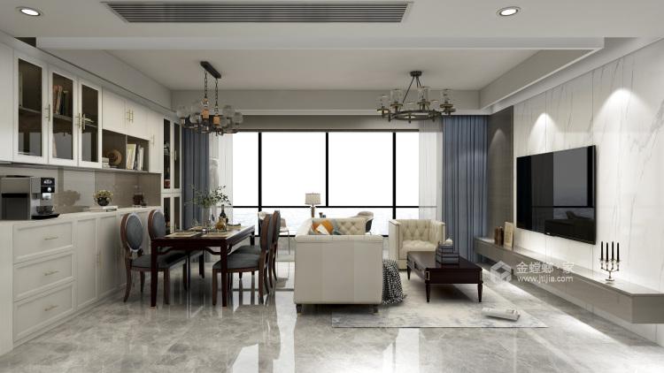 132平泊云庭现代风格-客厅效果图及设计说明