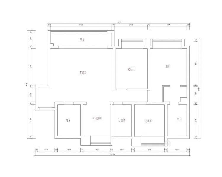132平泊云庭现代风格-业主需求&原始结构图