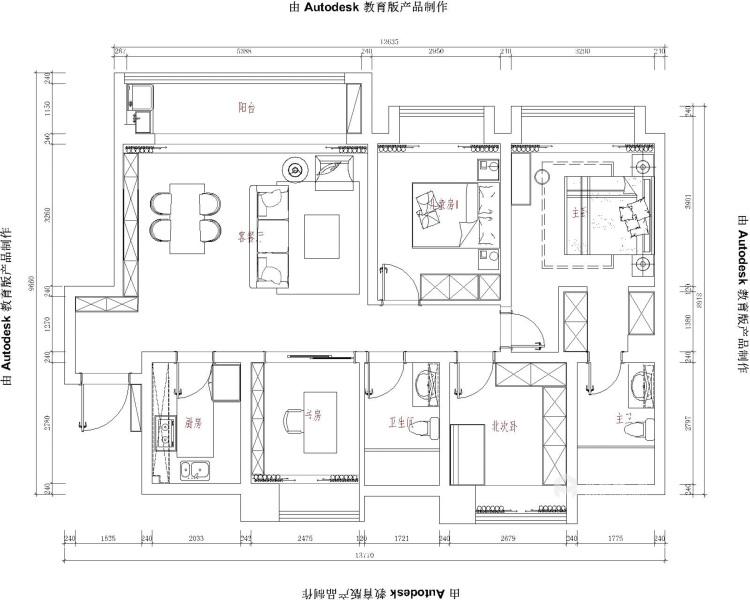132平泊云庭现代风格-平面设计图及设计说明