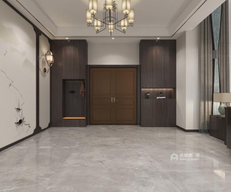 350平西山自建房新中式风格-玄关