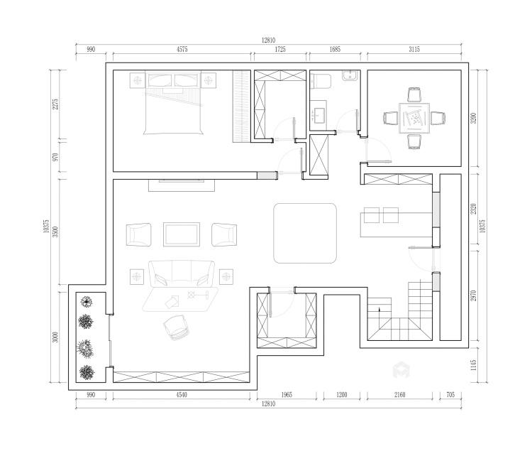 255平姑苏正弘府新中式风格-平面设计图及设计说明
