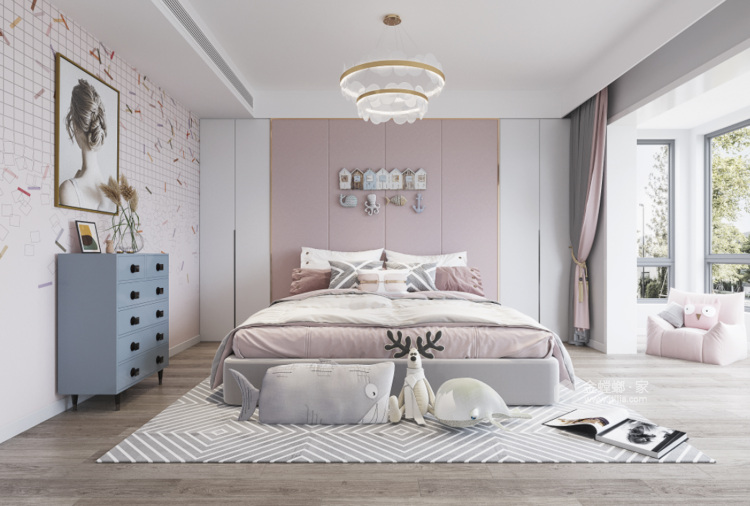 350平西山自建房新中式风格-卧室