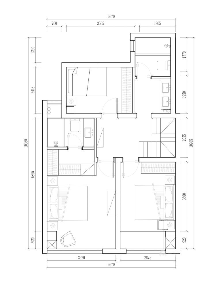 140平国瑞熙墅现代风格-平面设计图及设计说明
