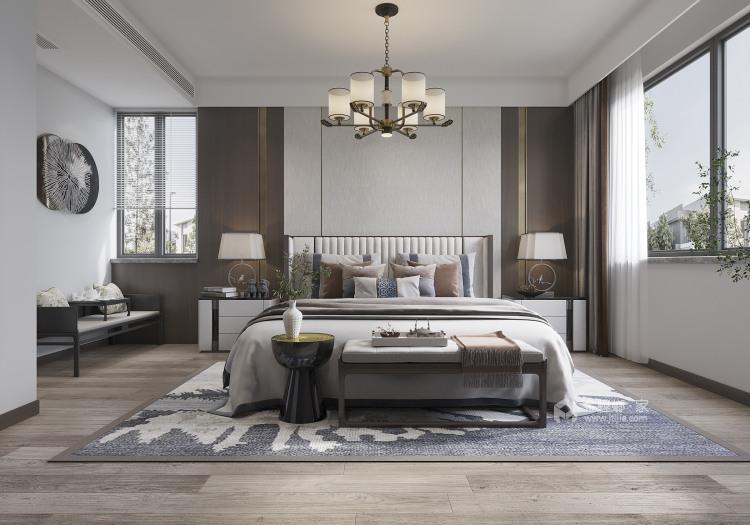 350平西山自建房新中式风格-卧室效果图及设计说明