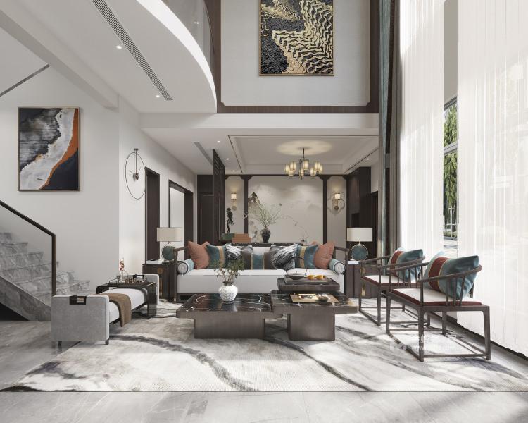 350平西山自建房新中式风格-'全景图封面图'