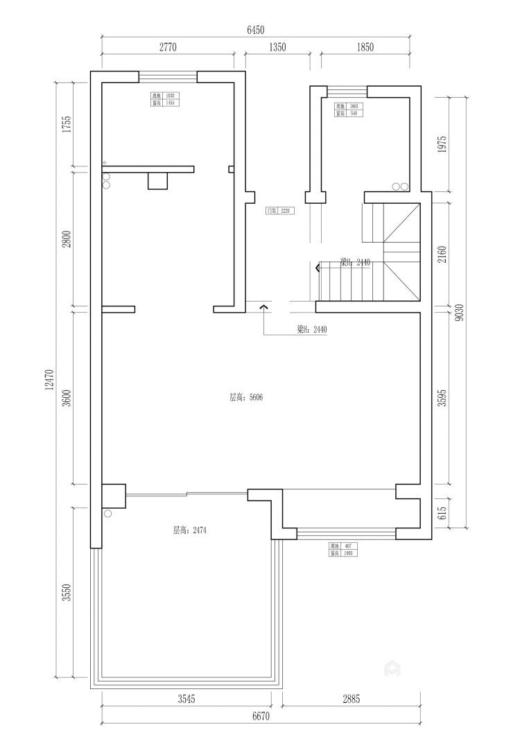 140平国瑞熙墅现代风格-业主需求&原始结构图