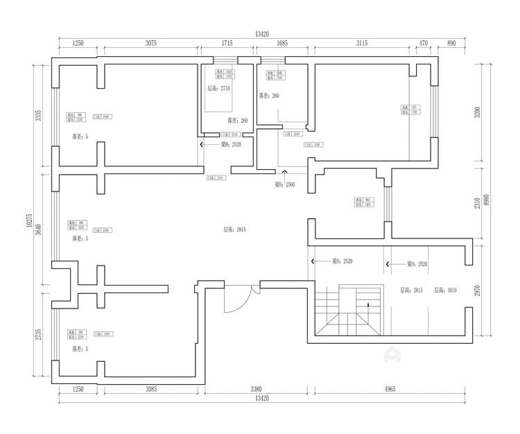 255平姑苏正弘府新中式风格-业主需求&原始结构图