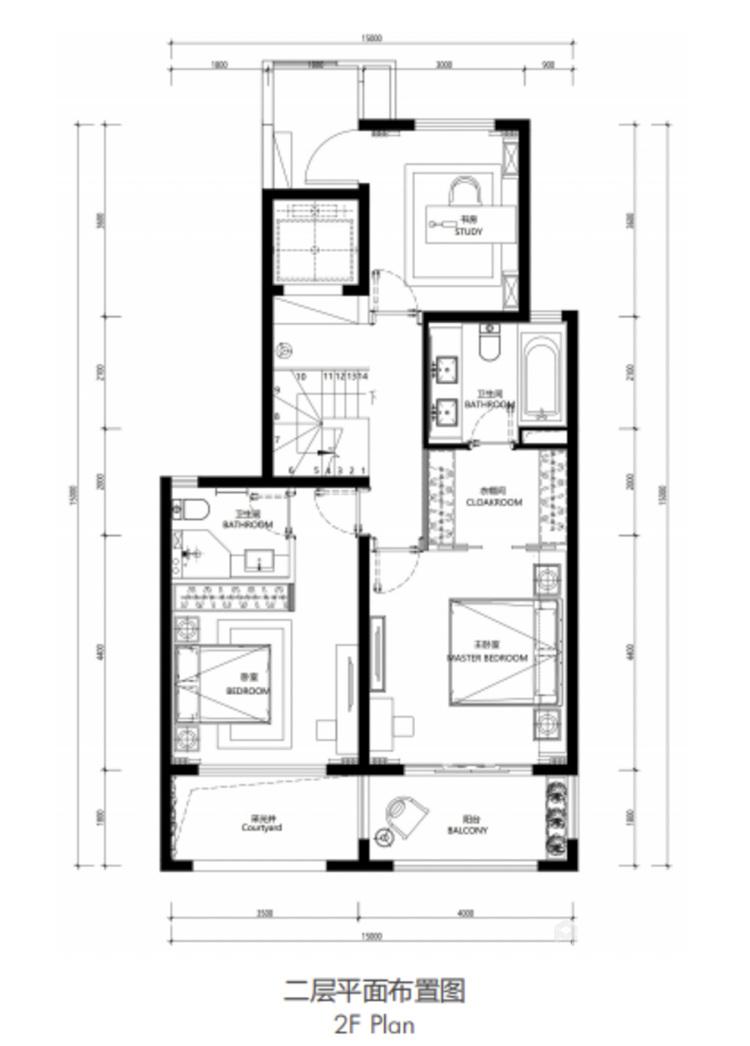 160平鲁能公馆新中式风格-平面设计图及设计说明