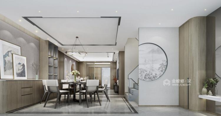160平鲁能公馆新中式风格-餐厅效果图及设计说明