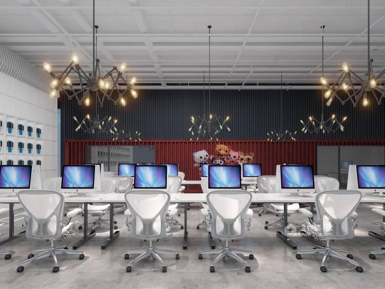 300平霄云中心办公室现代风格-客厅效果图及设计说明