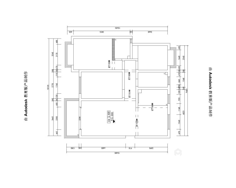 130平金悦华府现代风格-简约带点轻奢-业主需求&原始结构图