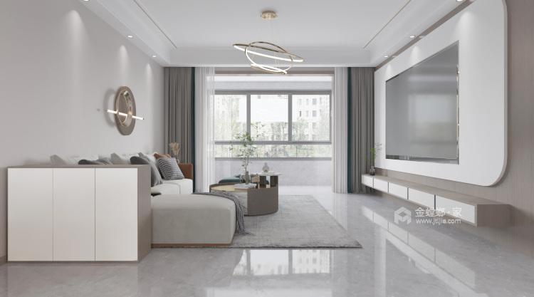 145平外滩玺园现代风格-恰到好处的安静-客厅效果图及设计说明