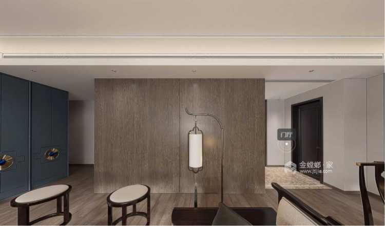 178平观枫四季花园现代风格-极富东方感的清逸淡雅-客厅效果图及设计说明