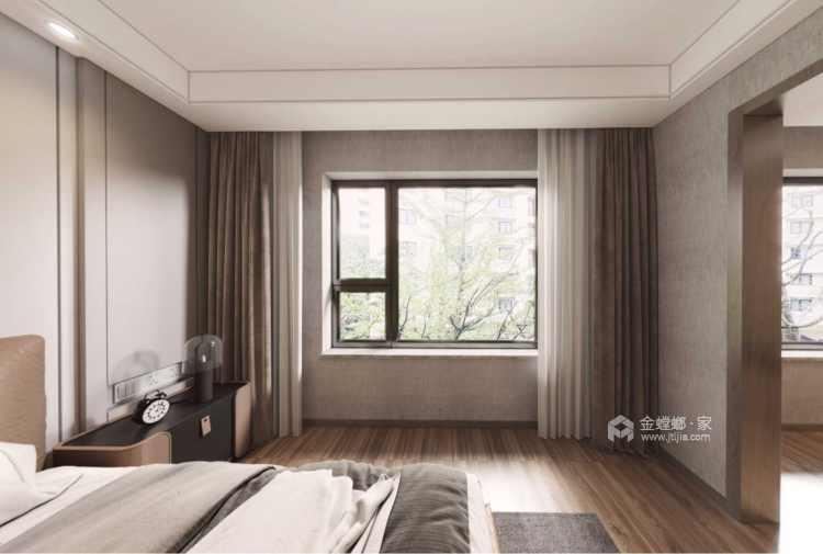 129平金茂熙悦现代风格-静谧-寻找内心深处的宁静-卧室效果图及设计说明