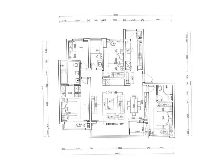178平观枫四季花园现代风格-极富东方感的清逸淡雅-平面设计图及设计说明